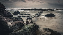 Path to Destruction (Neil Hamilton Photography (Getty Contributor)) Tags: longexposure sea storm seaweed beach water canon landscape scotland rocks waves angus boardwalk leefilters