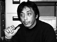 "Japan's Plasterer ""Shuhei Hazato"" :   (Dakiny) Tags: 2005 street winter portrait people blackandwhite bw man monochrome japan sony cybershot february takayama gifu hida carlzeiss dscf828"