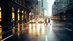 After the Storm (Pascal domenico) Tags: auto life street city blue winter light sky people house storm reflection cars love beautiful beauty rain yellow germany lights licht amazing frankfurt lifestyle haus best stadt fujifilm x100 strase prox x100t