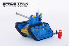 """Blue Bull"" | S-class Space Tank (Andrea Lattanzio) Tags: tank lego space legotank spacetank moontank norton74"