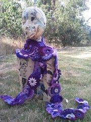 prudence 1 (laughingpurplegoldfish) Tags: scarf purple crochet free freeform