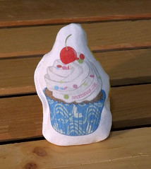 Cat Toy - Cherry Cupcake (made by mauk) Tags: cat toys catnip spoonflower madebymauk