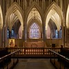 Sanctuary: Wells cathedral high altar (Jon Sketchley) Tags: england cathedral gothic arches wells somerset altar mediaeval vaulting highaltar
