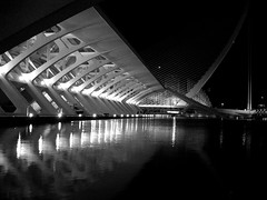 Valencia (arturo.gallia) Tags: bw water valencia architecture spain espana calatrava spagna