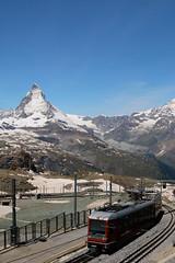 The 11:55 to Zermatt (tucker.ralph) Tags: snow mountains alps train railway gornergrat glaciers zermatt matterhorn cablelift