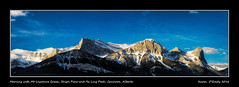 Morning with Mt. Lawrence Grassi, Ship's Prow and Ha Ling Peak, Canmore, Alberta (kgogrady) Tags: morning trees winter panorama snow canada mountains landscape rockies nikon pano rocky noone ab nopeople cx alberta rockymountains peaks nikkor canmore canadianrockies 2016 westerncanada canadianmountains shipsprow nikon1 halingpeak canadianlandscapes cans2s mtlawrencegrassi mountlawrencegrassi albertalandscapes nikon1v1 1nikkorvr30110mmf3856 1nikkor30110mmf3856vr picturesofalberta photosofalberta canadianrockieslanscape