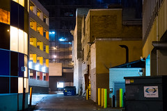 Alley (bryanscott) Tags: ca canada building fog architecture alley downtown winnipeg manitoba backlane