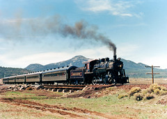 Grand Canyon Railway Train, 1990 (StevenM_61) Tags: railroad arizona train williams railway locomotive 1990 steamlocomotive passengertrain