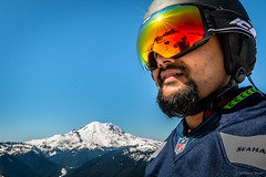 At it again (jetcitygrom) Tags: sky mountain snow ski closeup canon landscape goatee mt angle crystal wide goggles mount rainier snowboard seahawks snowboarder 70d