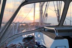 Enjoying the sunset (Dencku) Tags: sunset summer sky cloud sailboat suomi finland evening himmel archipelago ilta sommar kes segelbt solnedgng skrgrd moln auringonlasku pilvi parainen korpo taivas purjevene saaristo sprayhood kvll jurmo korppoo pargs
