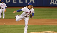 "Here is the Mets' Noah Syndergaard:  aka: ""Thor"" (Hazboy) Tags: noah new york nyc ny sports field sport hair queens blonde april thor pitcher mets mlb citi 2016 hazboy hazboy1 syndergaard"