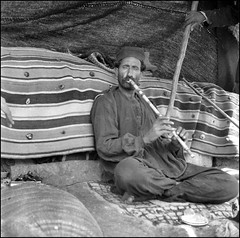 Playing the Ney (ookami_dou) Tags: musician vintage iran persia flute ney bedouin