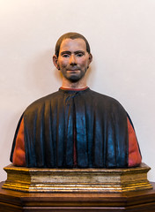 Painted bust of Niccolo Machiavelli, Palazzo Vecchio (Arutemu) Tags: italien italy florence italia firenze toscana