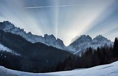 (Cristina Birri) Tags: blue winter sunset sky snow mountains montagne tramonto blu cielo neve inverno carnia dolomiti friuli udine fornidisopra