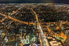 Osaka night. (Vince-leo) Tags: light japan night view   osaka    harukas300