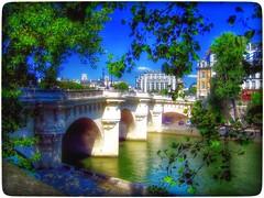Paris view... (Sherrianne100) Tags: bridge paris france seine river cityscape dreamy samaritaine