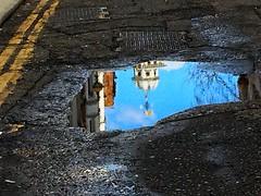 (Neil R Meninick) Tags: road street reflection london water rain puddle charterhouse