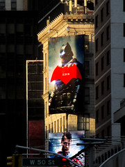 Batman V Superman Poster Billboard 8439 (Brechtbug) Tags: street new york city nyc blue red man st work dark comics painting movie poster square for book march dc paint theater comic near steel character alien bat working broadway battle s superman billboard advertisement adventure v armor hero posters superhero batman billboards knight worker shield times insignia 42nd krypton 2016 batsuit 04252016