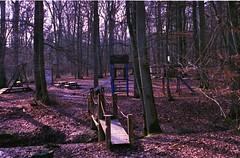bridge to adventure (ercastrob) Tags: bridge playground woods nikonfa oberursel canoscan8800f eichwldchen agfavistaplus400 itsnotacapture