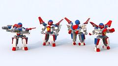 "Lockon Kai ""Stars and Bars"" (phayze81) Tags: lego frame scifi mf sciencefiction mecha mech moc starandstripes lockon mfz mobileframe mf0 mobileframezero legosilly"