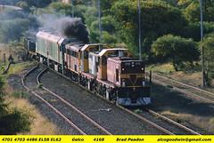 Gelco - East Botany (alcogoodwin) Tags: port transport railway australia transportation nsw locomotive botany railways freight 44 locomotives containers sandgate lvr 4703 4486 goninan 4701 el58 el62 dl500b