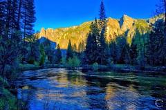 Merced River at Sunset. Yosemite California (Travel to Eat) Tags: california waterfall nationalpark scenery yosemite mercedriver