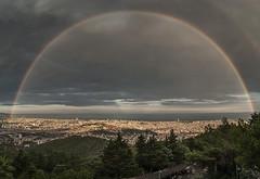 Barcelona despus de la tormenta. (Saldor) Tags: barcelona parque arcoiris rainbow tibidabo atracciones