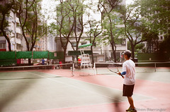 tennis anyone? (steve: they can't all be zingers!!! (primus)) Tags: film taiwan taichung filmcamera argusc3 lightroom kodakfilm taichungtaiwan lightroom6 kodakhighdefinition200film