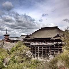 Kiyomizu-dera temple, Kyoto (: ) :) Tags: japan temple kyoto  cherryblossom  sakura  kiyomizudera attraction
