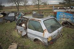 DSC_0008 (srblythe) Tags: uk classic cars ford abandoned graveyard car austin volkswagen scotland volvo rust fiat decay north rusty british scrapyard hyundai leyland vauxhall volvograveyard