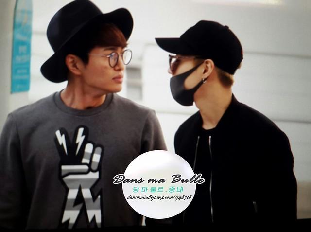 160401 SHINee (Sin Jonghyun) @ Aeropuerto de Incheon {Rumbo a Japón} 26214850696_b06df6bb09_z