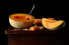 Cantaloupe (Studio d'Xavier) Tags: stilllife orange melon cantaloupe strobist