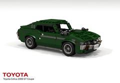 Toyota Celica [A20] 2000 GT Liftback - 1973 (lego911) Tags: auto classic sports car sport st japan japanese model 2000 lego render 1600 toyota gt 1970s coupe 1973 jdm cad sportscar a20 celica povray moc ldd miniland liftback foitsop lego911