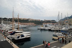 Harbour and the Rocher, Monaco (zawtowers) Tags: birthday vacation holiday weather rock boats la warm break harbour sunday sunny monaco april yachts overlooking rocher moored principality 2016 monacoville condamine