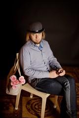 IMG_0768 (Tanel Teemusk) Tags: dog hat studio darkness rushmore bent bowler derby soi endless studiowork