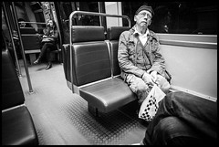 Lost in thought (GioMagPhotographer) Tags: man paris france hat subway lonely leicam9