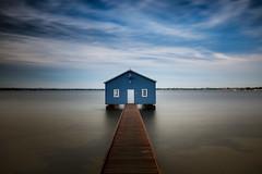 Crawley Edge Boatshed || Perth {Explore 125, 2016/04/23} (David Marriott - Sydney) Tags: blue river boat swan long au shed australia perth edge westernaustralia boatshed crawley exosure