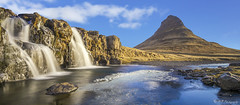 La montagne qui garde les cascades (R - P Photography) Tags: mountain snow ice water montagne iceland eau waterfalls cascades neige kirkjufell glace islande snaefellsnes pninsuledesnaefellsnes