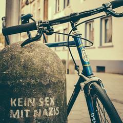 urban lifestyle advice (superstarfighter) Tags: urban bicycle sex 35mm germany nazis 11 66 fujifilm osnabrck urbanfragments fujix100s x100s