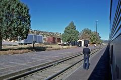 Standing Watch in Lamy (craigsanders429) Tags: amtrak passengertrains passengercars lamynewmexico amtraktrains amtrakstations amtraksuperliners aboardamtrak amtrakssouthwestlimited