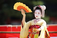 Maiko performance (Teruhide Tomori) Tags: portrait festival japan lady dance kyoto stage performance event maiko   kimono tradition japon       heianjingushrine