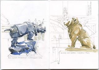 Musée d'Orsay - Le rhinocéros et le lion
