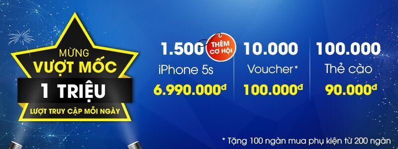 Mở bán thêm 1500 iPhone 5S giá sốc 6.990.000đ (23/04 - 28/04)