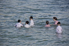 Kids in the water (Dan_lazar) Tags: holiday water port religious israel tel aviv celebration orthodox  passover