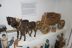 Antique toy wooden wagon and horses (quinet) Tags: germany munich toy deutschland antique allemagne spielzeug toymuseum jouet ancien antik spielzeugmuseum musedujouet 2013