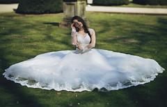 Sunny Bride (Anastasia Vervueren) Tags: wedding sun green love beautiful grass bride dress princess dreams