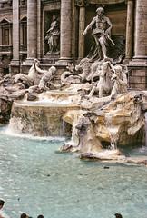 Trevi Fountain, Rome, Italy, 1958 (gbfernie5) Tags: vacation italy holiday rome fountain trevi trevifountain 1950s 1958 kodachrome bobbieobritton
