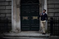 So Many Secrets (Netzki) Tags: door ireland dublin man mobile evening stair telephone stefan talking netzki waldeck 2016 stefanwaldeck