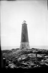 Lågskär; majakka rakenteilla (KansallisarkistoKA) Tags: lighthouse 1919 beacon majakka lågskär
