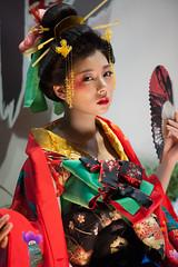 (byzanceblue) Tags: red sexy girl beauty japan lady japanese model geisha wig actress  nippon kimono yume  sato oiran
